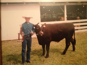 Matt at age 9, and his prize steer at the County Fair.