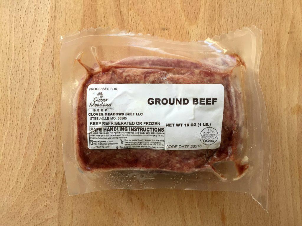 hamburger ground beef grass fed missouri st louis clover meadows beef