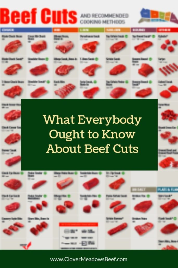 What Everybody Ought to Know About Beef Cuts - Clover Meadows Beef Grass Fed Beef St. Louis Missouri