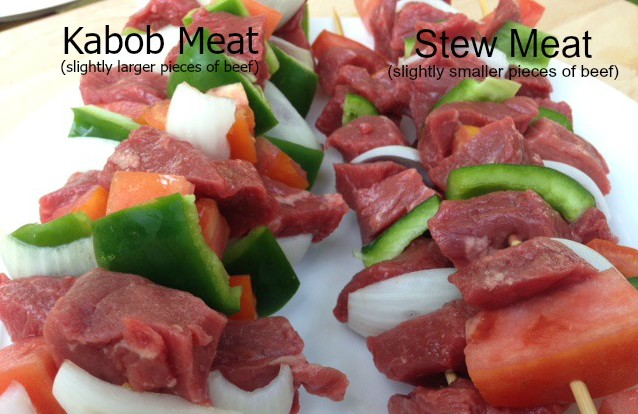 Stew Meat and Kabob Meat