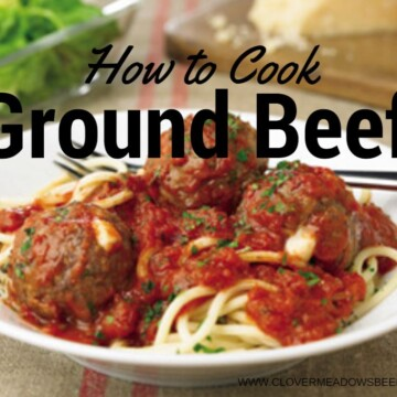 How to cook ground beef with step by step instructions | clover meadows beef