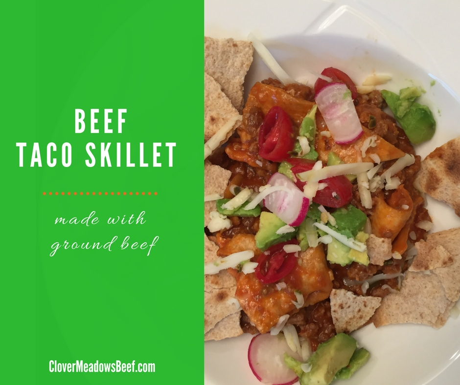 Beef Taco Skillet is a easy and good one-skillet meal | www ...
