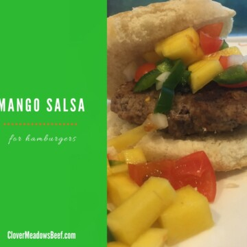Mango salsa for hamburgers