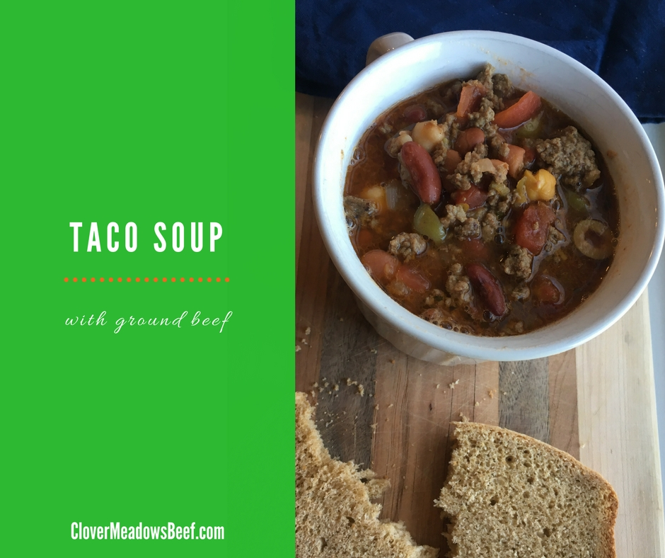 Taco Soup Crockpot or Stove Top Made with Grass fed ground beef