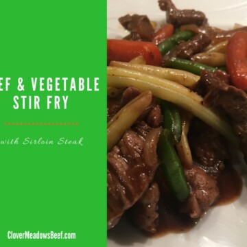 Easy Beef Stir Fry - Quick One Skillet Dinner - Clover Meadows Beef Grass Fed Beef Free Delivery