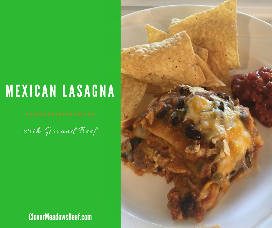 Mexican Lasagna, Ground Beef Dinner, Clover Meadows Beef Grass Fed Beef St Louis