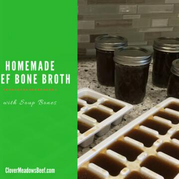 beef bone broth 4 Ingredient Homemade