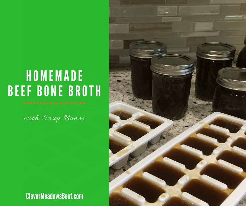 beef bone broth 4 Ingredient Homemade