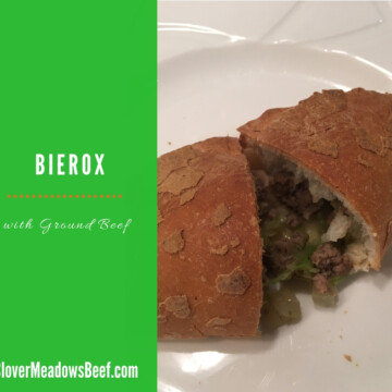 Bierox ground beef and cabbage - Clover Meadows Beef Grass fed Beef St. Louis STL