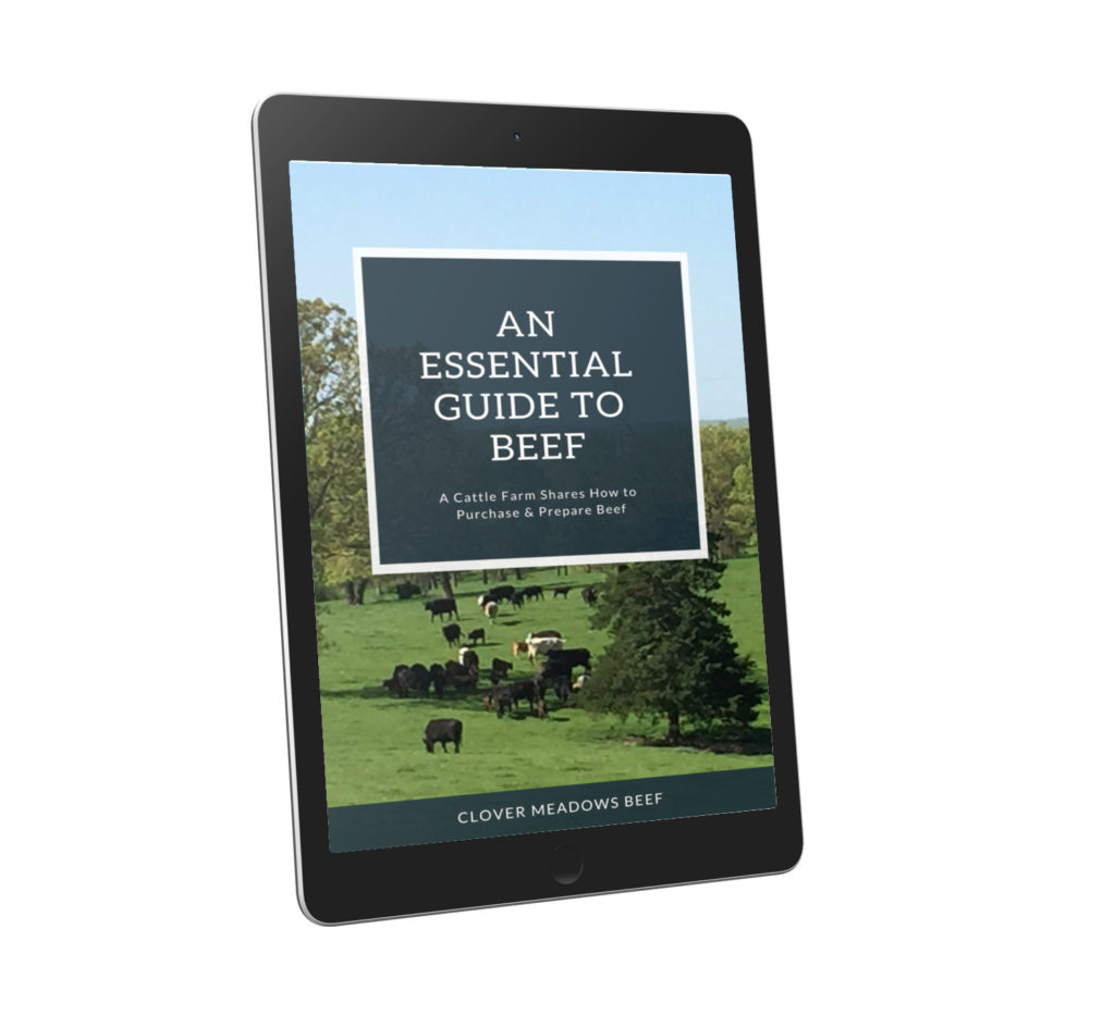 How to cook beef ebook - Clover Meadows Beef Grass Fed Beef