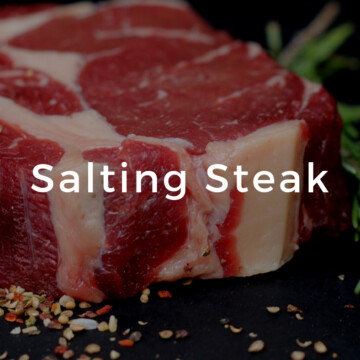 Salting Steak   Clover Meadows Beef Grass Fed Beef St Louis Salting Beef Evenly   How to Salt Steak