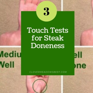 Touch Tests for Steak Doneness - Clover Meadows Beef Grass Fed Beef St. Louis