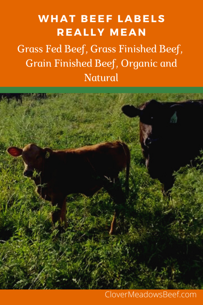 what beef labels really mean - grass fed beef grass finished beef grain finished beef organic beef natural beef - clover meadows beef.png